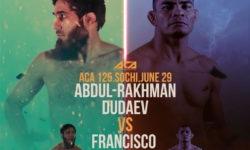 ACA 125 Дудаев vs Де Лима