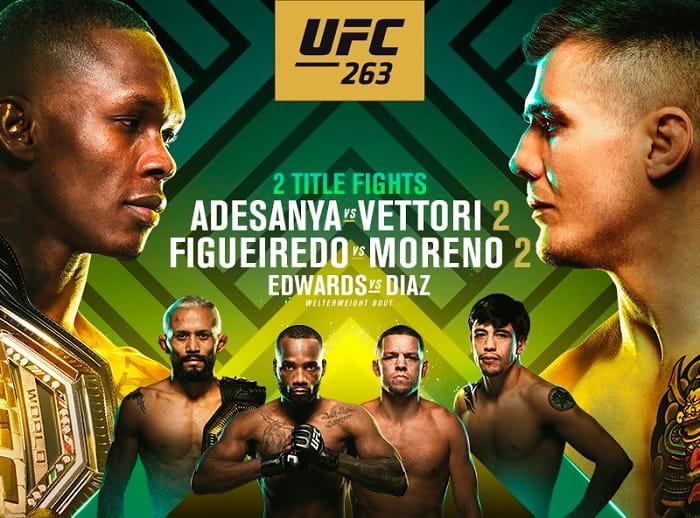 UFC 263: Адесанья - Веттори 2 / Прямая трансляция