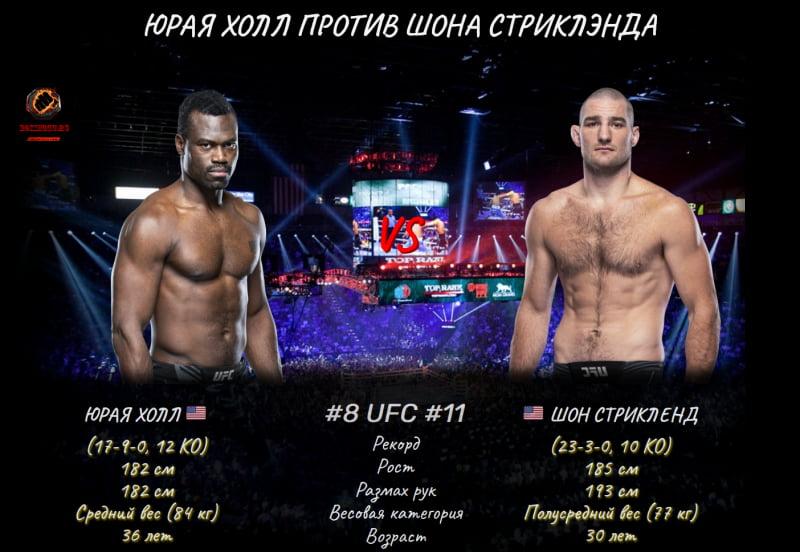 UFC Fight Night: Юрая Холл против Шон Стриклэнд