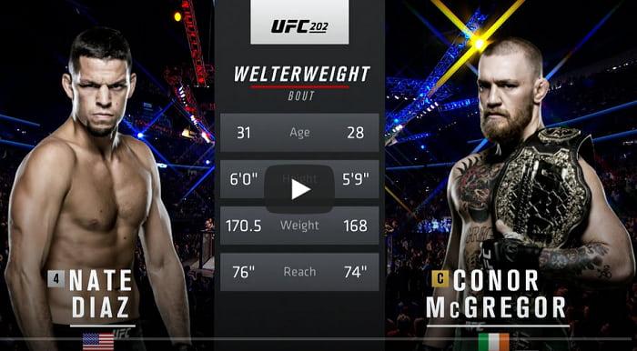 Видео боя Конор МакГрегор - Нейт Диаз 2 / UFC 202