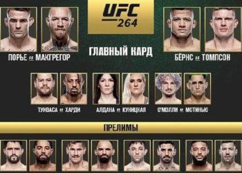 Результаты турнира UFC 264